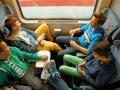Im Zug nach Hamburg