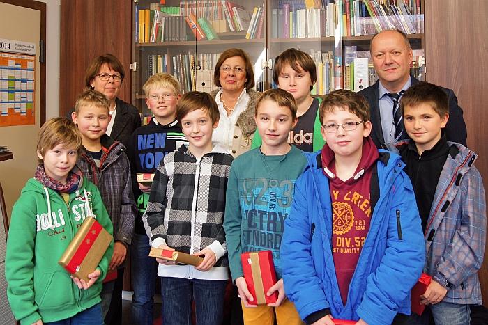 Lesewettbewerb 6. Klassen Siegerehrung  12.2013